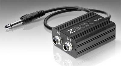 MOTU ZBox Guitar Impedanzanpassung