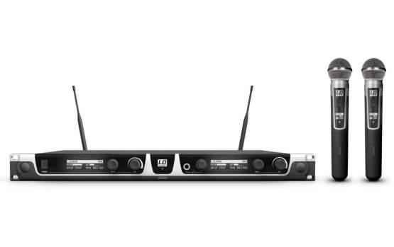LD Systems U508 HHD 2 Funkmikrofon System mit 2 x Handmikrofon dynamisch