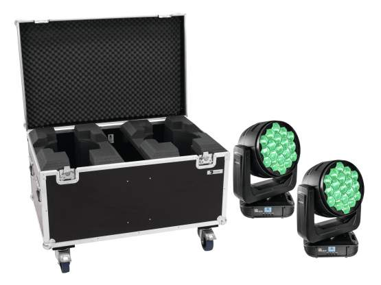 Eurolite Set 2x LED TMH-X19 + Case